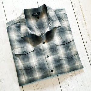 Paige Plaid Button Up  Shirt